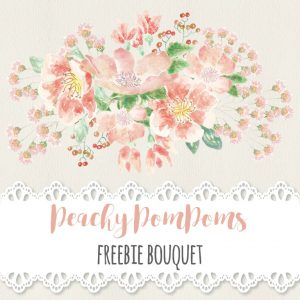 peachy-pompoms-freebie-bouquet