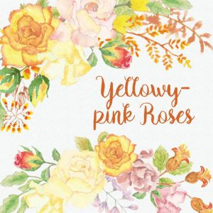 Yellowy pink roses