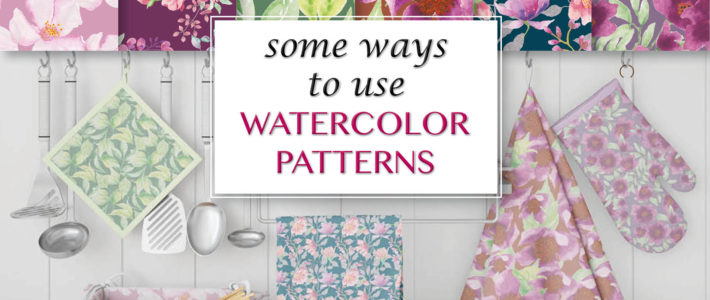How to use watercolor patterns