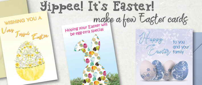 How to make a few Easter cards