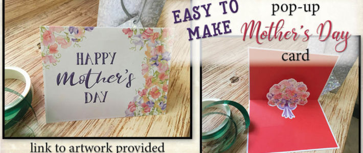 Pretty pop-up Mother's Day card